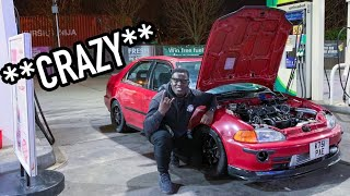 THIS HONDA CIVIC EG9 K20 TURBO IS CRAZY!!!!