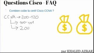 Combien coute la certification cisco CCNA ?