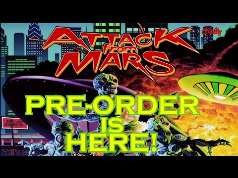 Arcade1up Attack From Mars & Atgames pinball preorder news, Star Wars pinball update, and more from Evil Genius Entertainment
