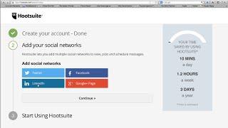 Hootsuite Tutorial #1 [Deutsch] [HD] - Account anlegen Netzwerke hinzufügen