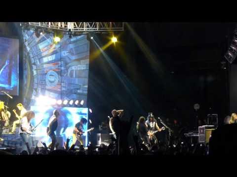 "Megadeth ""Cold Sweat"" Jason Newsted, Zakk Wylde, Slash, Vinnie Paul at Gigantour Dallas, TX 7-12-13"