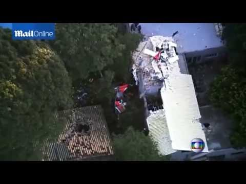 Tragedy as helicopter falls on house in Sao Paulo