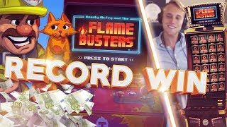 MUST SEE!!!! RECORD WIN ON FLAME BUSTERS HUGE WIN (Casino - Big win)