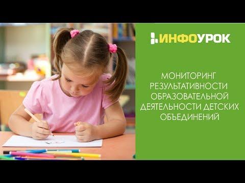 Мониторинг результативности образовательной деятельности детских объединений