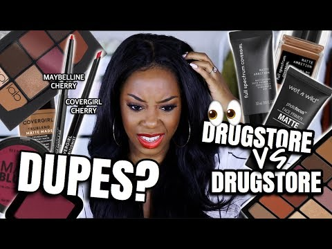 I FOUND MORE CHEAP DUPES IN MY MAKEUP COLLECTION | DRUGSTORE vs... DRUGSTORE??? | Andrea Renee thumbnail