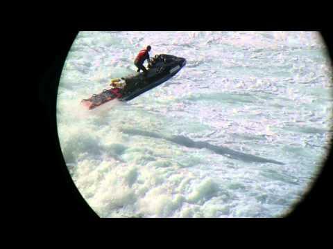 Bondi Beach - Jet ski smashing through waves