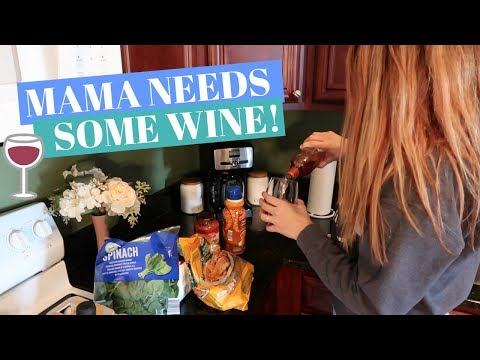 DAY IN THE LIFE OF A STAY AT HOME MOM WITH A BABY VLOG | Grocery Haul & Cook With Me