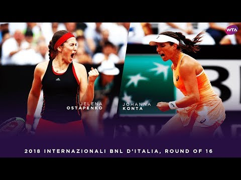 Jelena Ostapenko vs. Johanna Konta | 2018 Internazionali BNL d'Italia Round of 16 | WTA Highlights