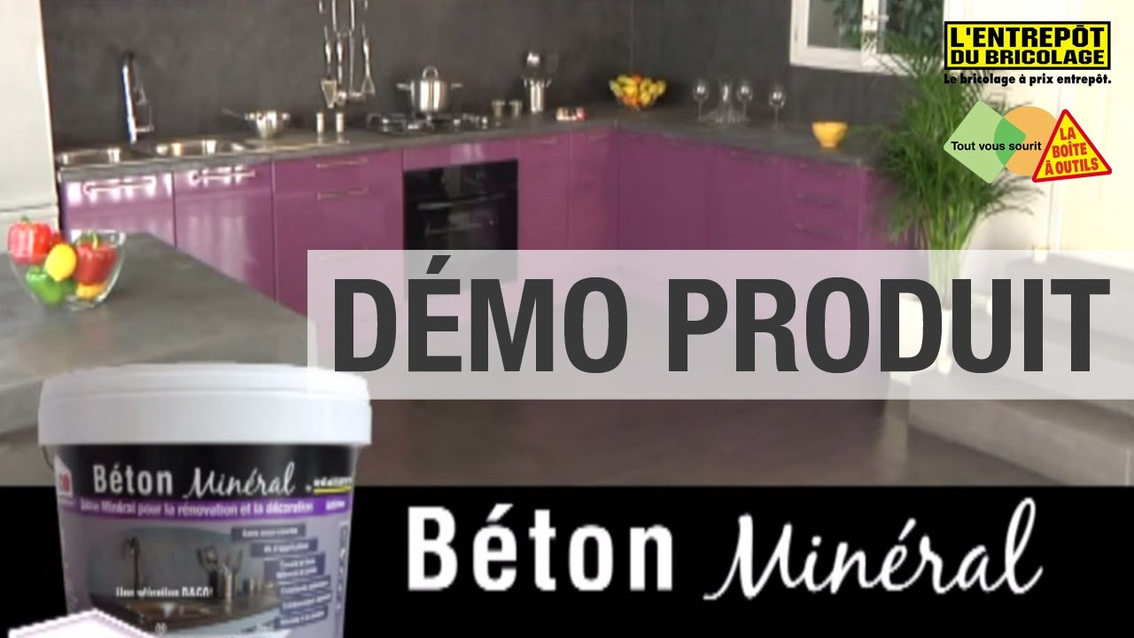 Les Demos Produit Le Beton Mineral Resinence Youtube