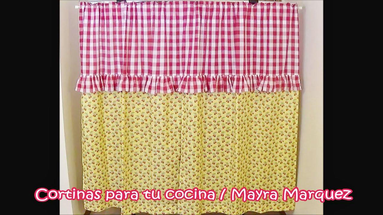 Cortinas para cocina youtube for Como hacer cortinas para cocina