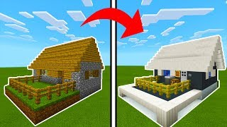 Minecraft Tutorial: How To Transform a Village Butcher Shop Into A Modern Butcher Shop