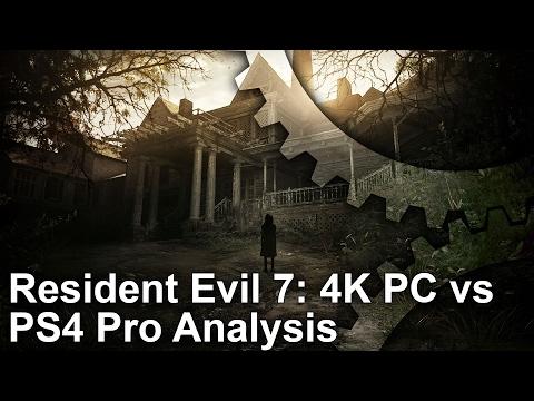 [4K] Resident Evil 7 Ultra HD: PC vs PS4 Pro - Does Resolution Really Matter?