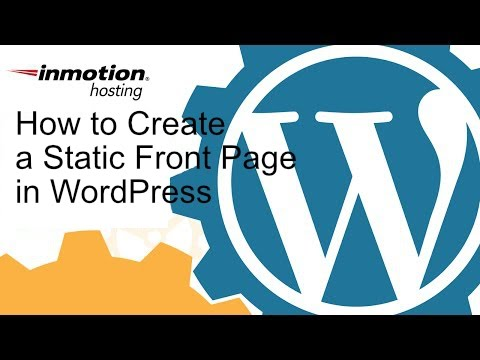 How to Create a Static Frontpage in WordPress - YouTube