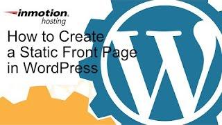 WordPress Statik bir Frontpage Oluşturma