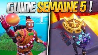 GUIDE COMPLET des DÉFIS de la SEMAINE 5 SAISON 8 de FORTNITE ! (Fortnite Astuce)