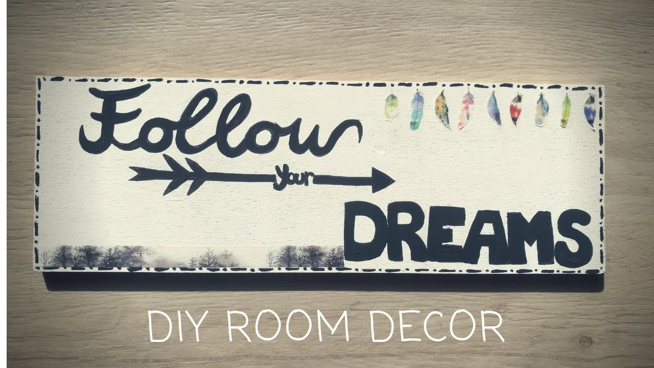 Cameretta Fai Da Te diy tumblr room decor | decorazione per la camera fai da te #diyroomdecor