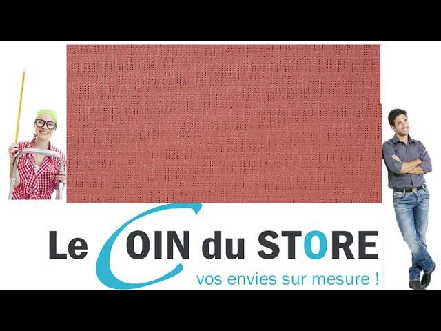 Toile PVC pour pergola et store Soltis Perform 92 Tomette marron rouge 50267 Serge Ferrari