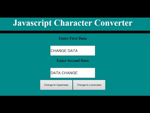 How To Change Character From Lowercase To Uppercase In JavaScript