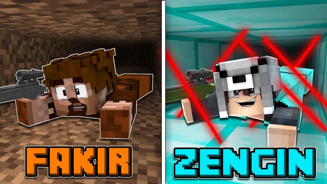 FAKİR SAVAŞ VS ZENGİN SAVAŞ! ? - Minecraft