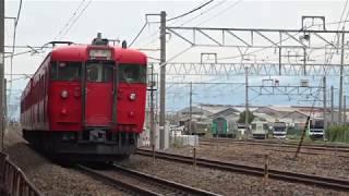 1号車~4号車、黒色E257系の置かれてる廃車置場へ移動された251系RE-1編成、長野総合車両センター。