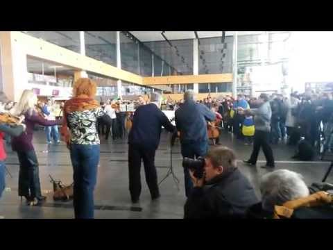 Гимн Евросоюза. Аэропорт Донецка. 30.03.2014 / Anthem of EU in Donetsk airport Ukraine