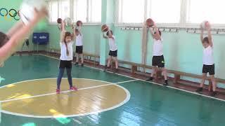 """Открытый урок по баскетболу в 3 классе Тема:""""Ловля и передача мяча на месте и в движении"""""""