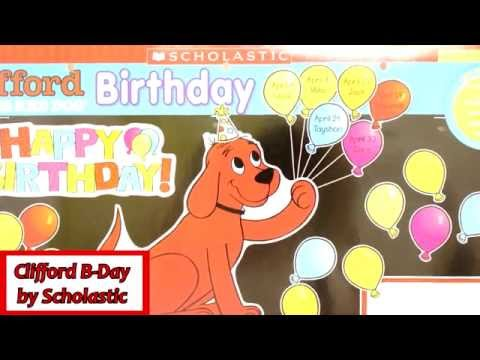 Clifford Birthday Bulletin Board Set by Scholastic Inc. 581919
