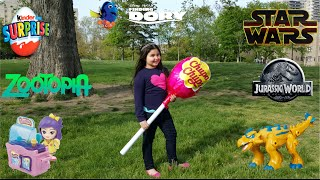 Giant Surprise Chupa Chups Lollipop Toy  #2 | Disney Toys,  Dory, Jurassic  World , Kinder Egg