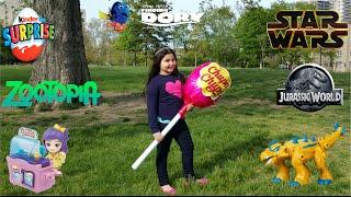 giant surprise chupa chups lollipop toy 2   disney toys dory jurassic world kinder egg