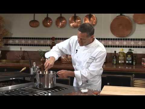 Chef Ken Arnone making Marinara Sauce