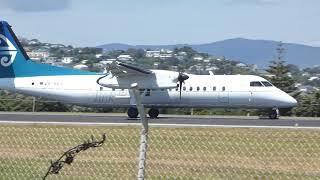 Wellington Airport | Air New Zealand | De Haviland Canada Dash 8-300 (ZK-NEO) landing RWY16
