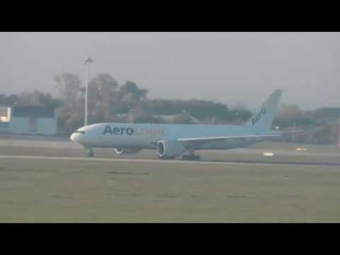 *Worst engine sound ever* Aerologic Boeing B777F aborted takeoff ✈ at Leipzig Airport !