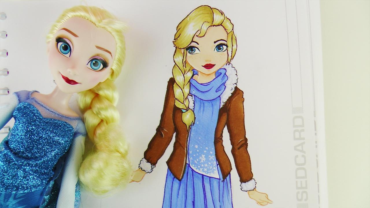 ELSA IM TOPMODEL MALBUCH | Disney Frozen Ice Queen HOW TO DRAW ...