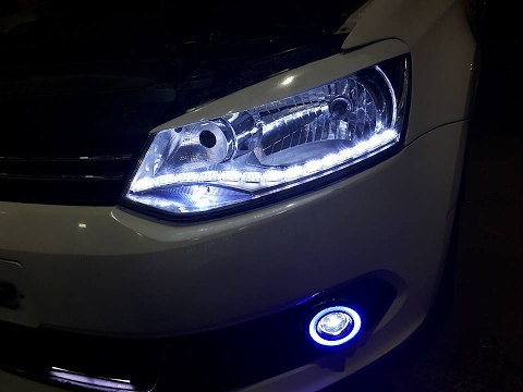 Modified VW Vento New Type Drl Headlights | HID Projector Fog Lamps