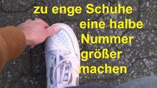 Schuhe weiten eine Nummer größer machen enge Schuhe weiten Schuhe drücken