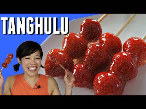 TANGHULU 冰糖葫芦 Recipe - crunchy edible glass candy-coated strawberries FAILS included