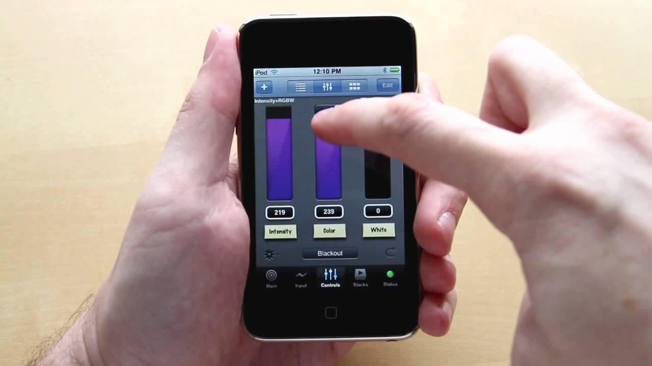 Luminair 2.0 - wireless DMX lighting control for iPhone ...