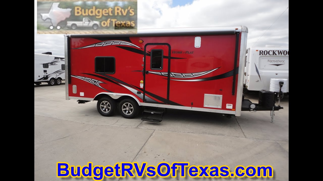 Rv Bumper Hitch >> 2015 Work And Play WPT 18 Bumper Pull Toy Hauler - YouTube