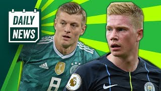 Kevin De Bruyne Injury + Kroos & Ozil go head to head ► Daily Football News