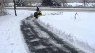 John Deere Tractor X585 Plowing Snow