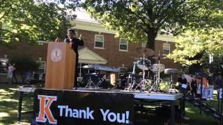 Kalamazoo College President Eileen B. Wilson-Oyelaran Thanks Donors
