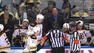 John Scott cheapshots Loui Eriksson, fights McQuaid w/SlowMo 10/23/13