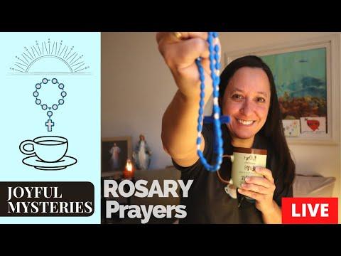 Catholic prayers the Rosary prayers LIVE the Joyful Mysteries