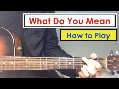 What Do You Mean - Guitar Lesson (Tutorial) | Justin Bieber