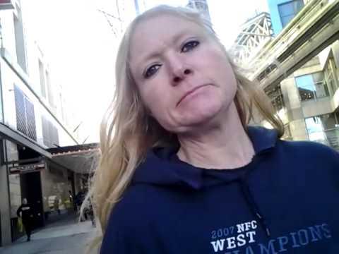 Seattle homeless woman express herself