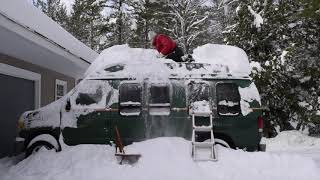 Attempting to Clean Snow Off My Van for the First Time