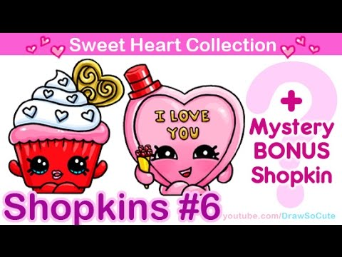 How To Draw Shopkins Valentines Special From Sweet Heart