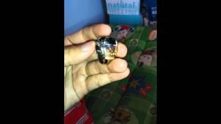 Cincin bulu macan serat emas goyang 3D 10 crt