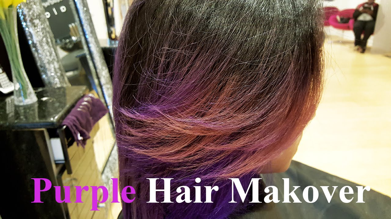 makeover 3d hair color purple
