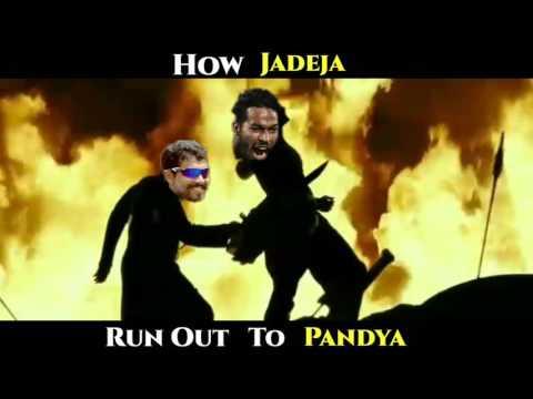 Hardik Pandya Run Out Spoof vs Pakistan CT 17 Final
